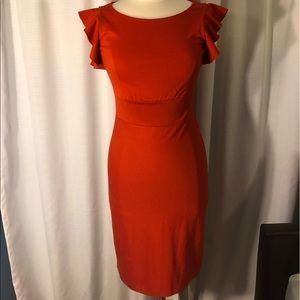 The Limited: Jersey-knit Flutter Sleeve Dress